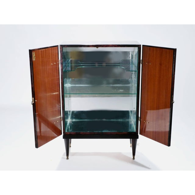 Bar Cabinet in Goatskin Parchment by Aldo Tura, 1960s For Sale - Image 9 of 12