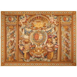 19th Century Antique Tapestry From Aubusson For Sale