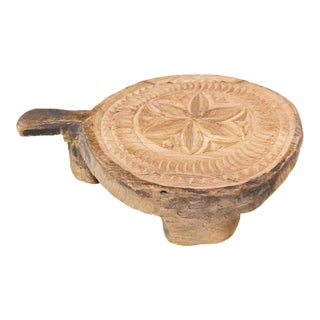Hena Nepalese Carved Lotus Chakla Stand For Sale