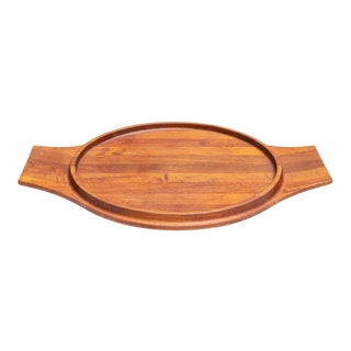 Extra Large Vintage Danish Teak Serving Tray by Jens Quistgaard for Dansk For Sale