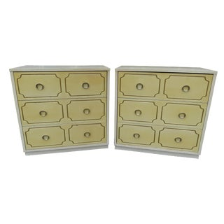1950's Hollywood Regency 3-Drawer Chest of Drawers or Bachelor Chests - a Pair For Sale