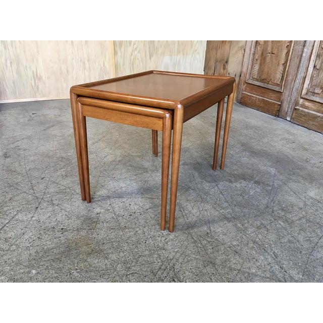 Wood Nesting Tables by t.h. Robsjohn-Gibbings for Widdicomb - A Pair For Sale - Image 7 of 11