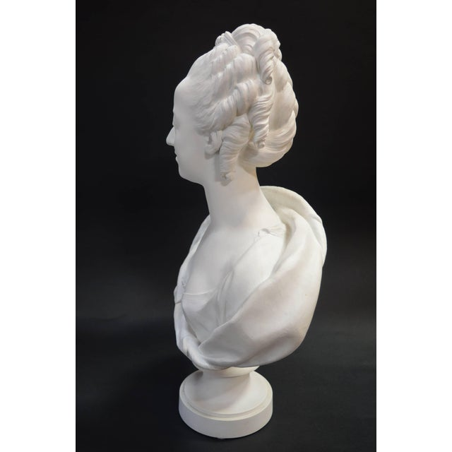 Figurative Bisquit Bust of Marie Antionette For Sale - Image 3 of 7