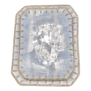 Contemporary Opalescent Shell Plates - a Pair For Sale