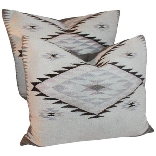 Navajo Indian Weaving Large Pillows or Pair For Sale
