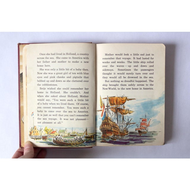 """Americana """"All Around America"""" Vintage Children's Book For Sale - Image 3 of 10"""