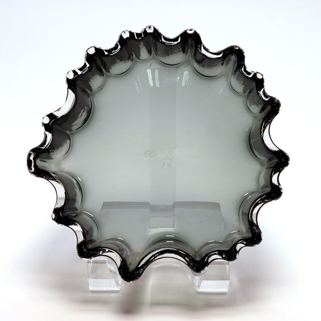 Rosenthal 1960s Tapio Wirkkala Rosenthal Crystal Cogwheel Console Bowl For Sale - Image 4 of 7
