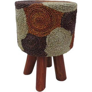 Indonesian Round Counter Stool For Sale