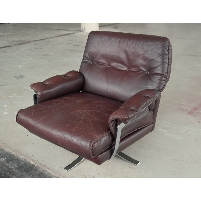 Arne Norell Hand-Stitched Leather Lounge Chair - Image 5 of 10