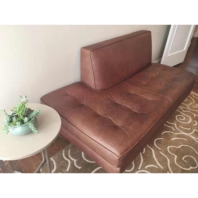 Room & Board Brown Leather Sofa - Image 3 of 3