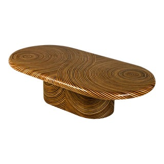 Showtime Ribbon Oval Coffee Table For Sale