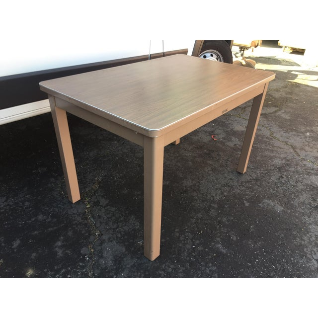 Steelcase 1960s Industrial McDowell and Craig Metal Writing Desk For Sale - Image 4 of 10