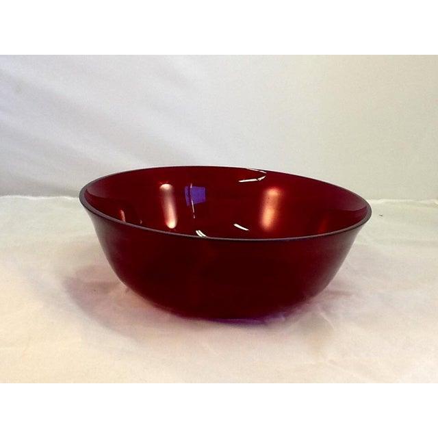 Vintage Cranberry Glass Bowl - Image 2 of 5