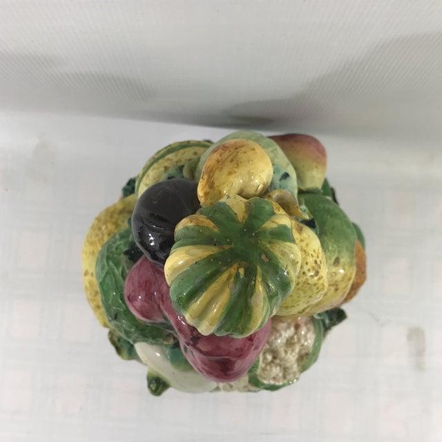Large Antique Porcelain Vegetable Basket Centerpiece For Sale In Charlotte - Image 6 of 10