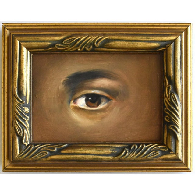 Susannah Carson Contemporary Lover's Eye Oil Painting by Susannah Carson For Sale - Image 4 of 4