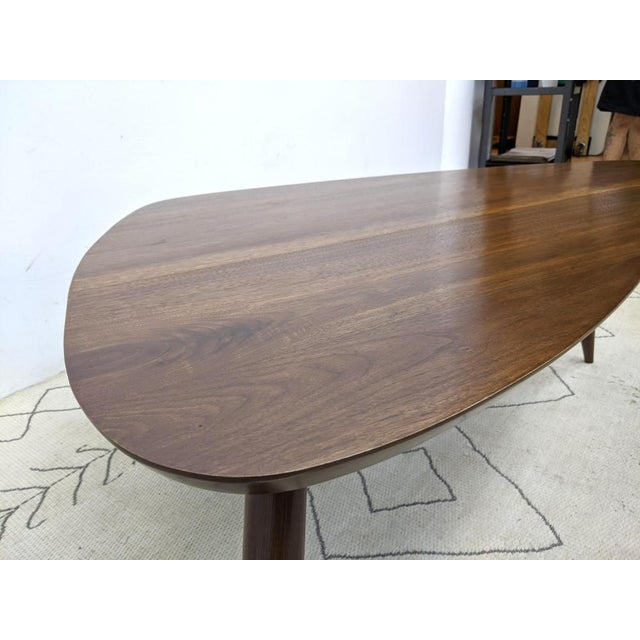 1960s Mid Century Walnut Cocktail Table For Sale In New York - Image 6 of 9