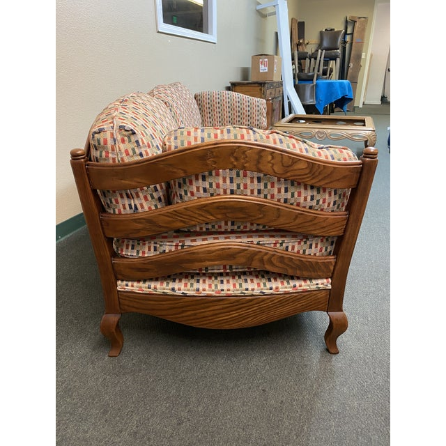 1990s Thomasville French Country Reproduction Sofa /Daybed For Sale - Image 5 of 12