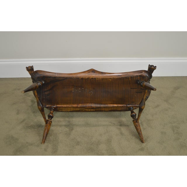 Windsor Style Hand Crafted Miniature Childs Settee by K. Malone (18th Century Reproduction) For Sale In Philadelphia - Image 6 of 12