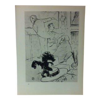 """Circa 1980 """"The Grand Concert in the Opera Ambroise Thomas Attend an Audition of His Opera - 1896"""" Print of a Toulouse-Lautrec Drawing For Sale"""