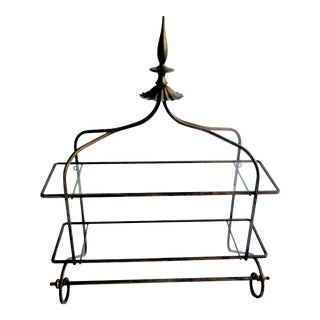 Hollywood Regency Wall Mount Shelving For Sale