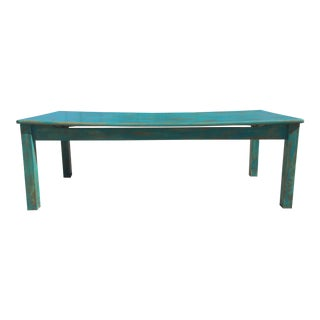 Turquoise Rustic Patina Coffee Table