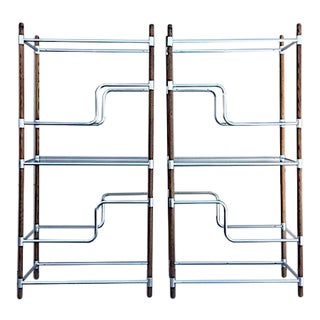 1960s Mid Century Modern Shelving Units - a Pair For Sale