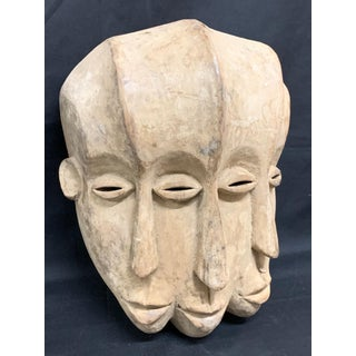 African Art Triple Face Bacongo Mask Preview