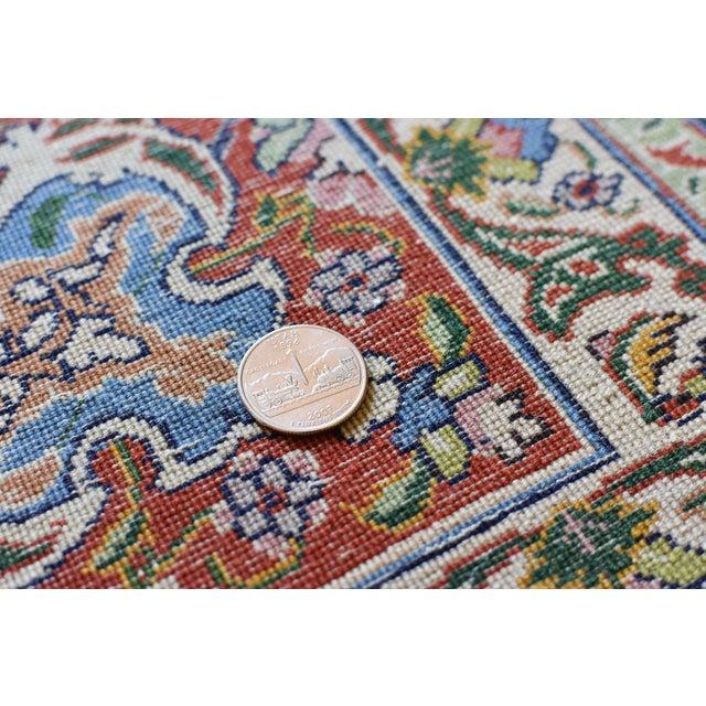 Silk Vintage Signed Persian Tabriz Wool & Silk Rug - 6′5″ × 9′7″ For Sale - Image 7 of 11