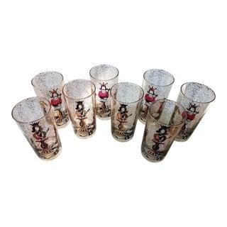 Mid-Century Georges Briard Vintage Glasses - Set of 8