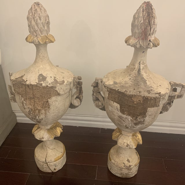 Mid 18th Century 18th Century Antique Portuguese Finials - a Pair For Sale - Image 5 of 13