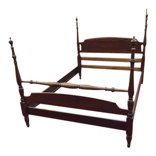 1950s Traditional Kling Furniture Full Size Mahogany Poster Bed For Sale
