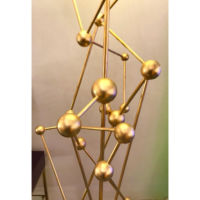 Metal Floor Lamp Atomica Iron Gold Leaf by Antonio Cagianelli, Italy, 2018 For Sale - Image 7 of 12