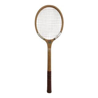 Vintage Wooden Blue Bird Tennis Racket
