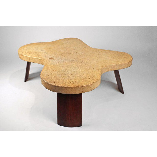Paul Frankl Cork Top Amoeba Coffee Table for Johnson Furniture For Sale In Dallas - Image 6 of 10