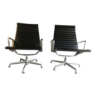 Herman Miller Eames Aluminum Chairs - A Pair For Sale