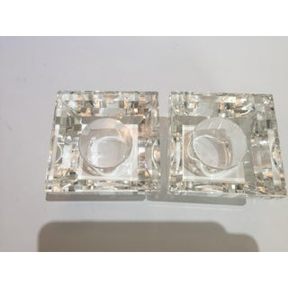 Faceted Crystal Pyramid Votive Candle Holders by Oleg Cassini - a Pair Preview