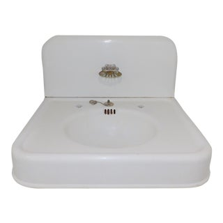 Antique Standard Cast Iron Sink For Sale