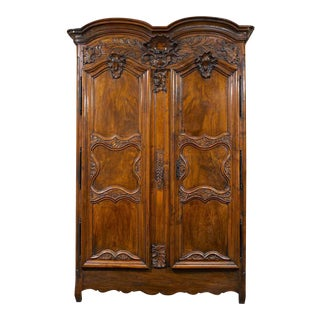 French Provincial Double Door Armoire For Sale
