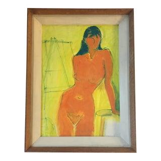 Vintage Mid -Century Female Nude Painting
