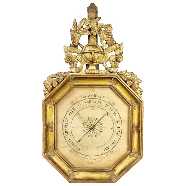 Gold Charles X-Giltwood Barometer For Sale - Image 8 of 8