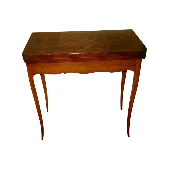 C.1850 French Game Table Inlaid Walnut Fruitwood - Image 1 of 10