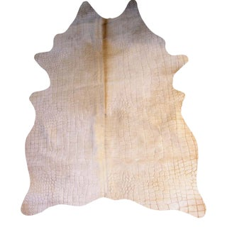 Cow Croco Leathers Rug From Covet Paris For Sale