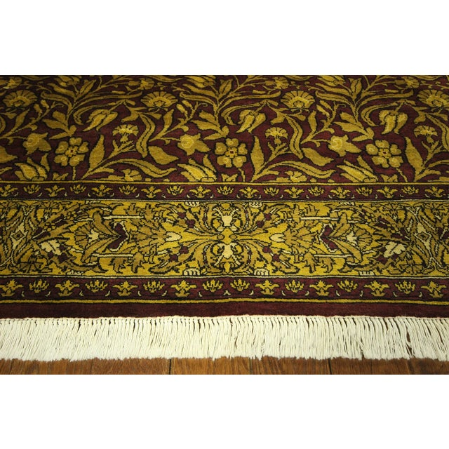 """Suzani Collection Oushak Floral Rug - 6'2"""" x 8'10"""" - Image 8 of 10"""