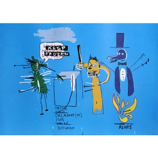 Jean-Michel Basquiat - the Dingoes That Park Their Brains With Their Gum Poster 1988 For Sale