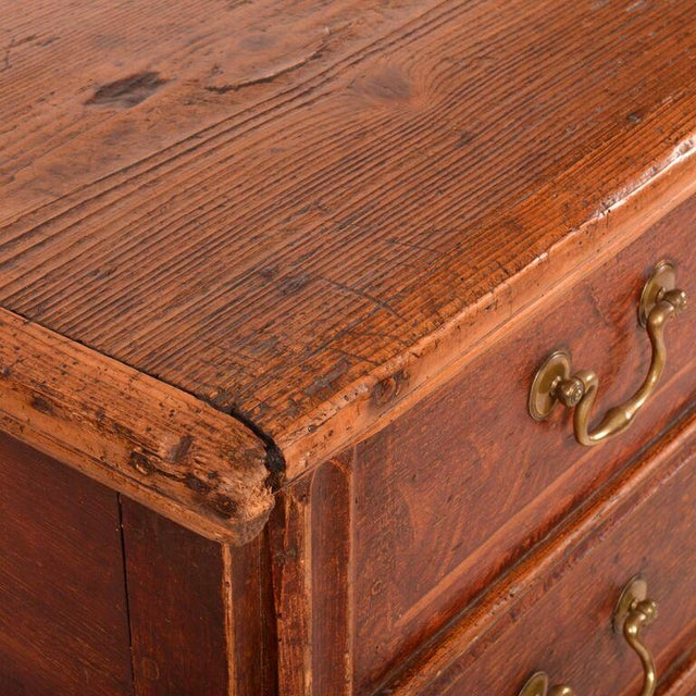 Antique English Pine Footed Chest For Sale In Los Angeles - Image 6 of 7