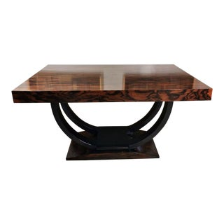 1920 Art Deco Extendable Dining Table For Sale