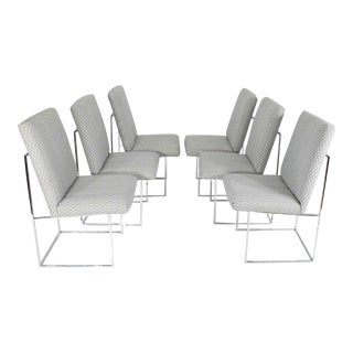 "Set of Six Milo Baughman ""1187"" Dining Chairs"