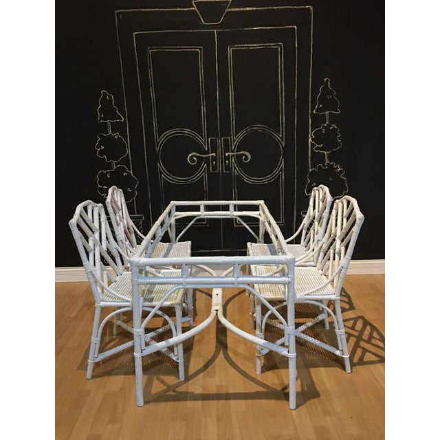 Wood Chippendale Bamboo Dining Set - 5 Pieces For Sale - Image 7 of 7