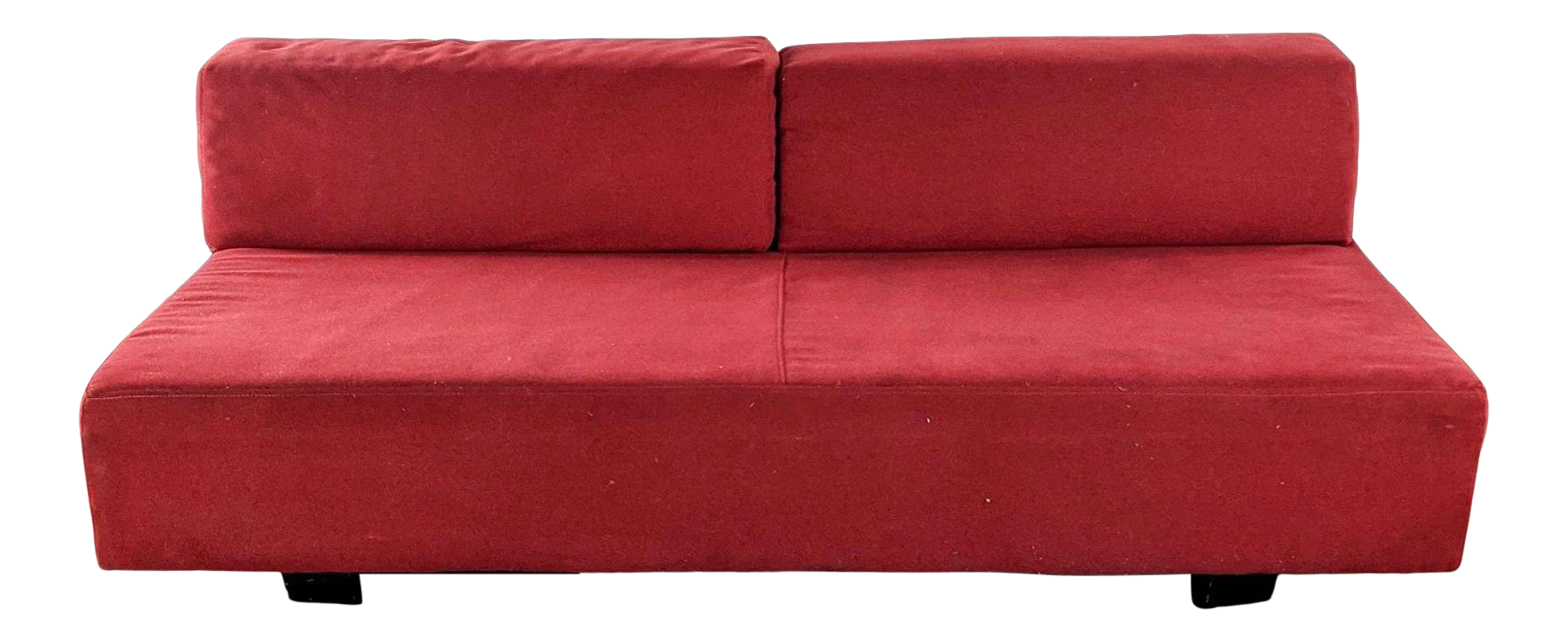 West Elm Red Upholstered Sofa Chairish