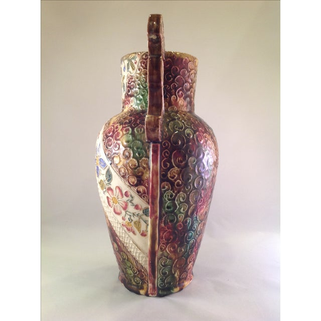 English Victorian Majolica Vase - Image 3 of 5